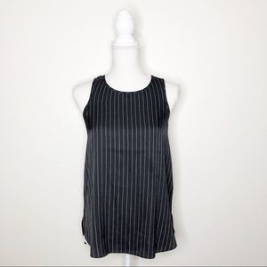 Banana Republic Pinstripe Halter Neck Tank Top